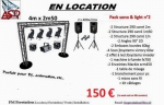 Pack Sono & Light complet n°5 (2x400w/rms)